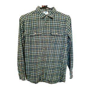 Boy's Old Navy Green Flannel L/S Shirt Sz XL